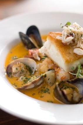 Creamy Seafood Saffron Soup