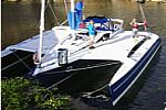 Dragon 35 Trimaran Swin Wing at the Boat Show