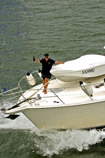Ian Reynolds Riviera 56 On Bow