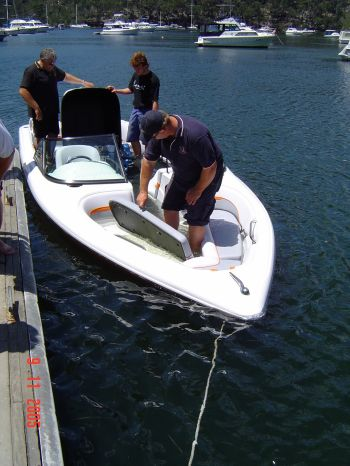 Lewis Boats Swamp Test a Vessel