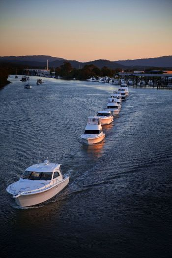 Riviera Motor Yachts the boats leave Gold Coast for Sydney.jpg